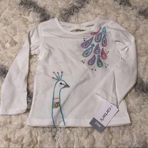 NWT Carter's Peacock Long Sleeve Tee, 24m